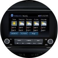 Image of the 2020 Nissan TITAN touchscreen display