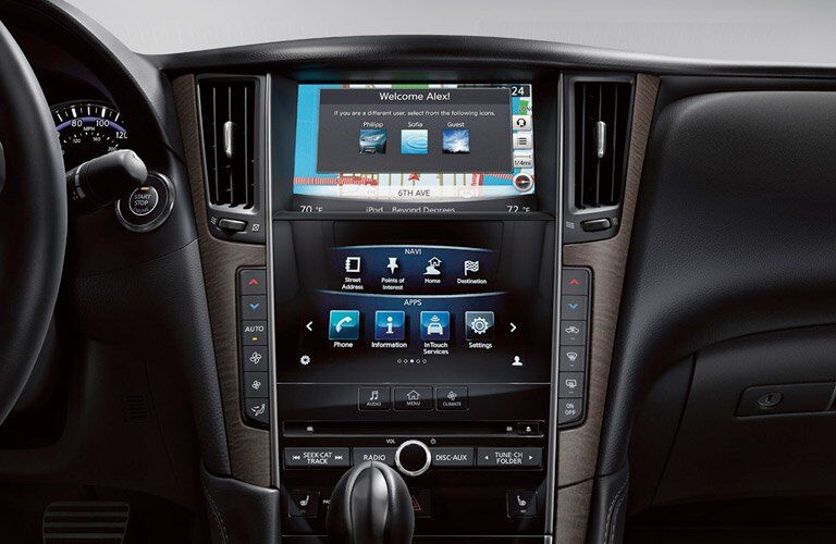infiniti q50 interior touchscreen display