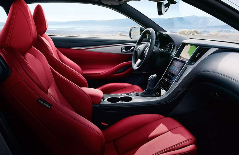 infiniti q60 red front seats