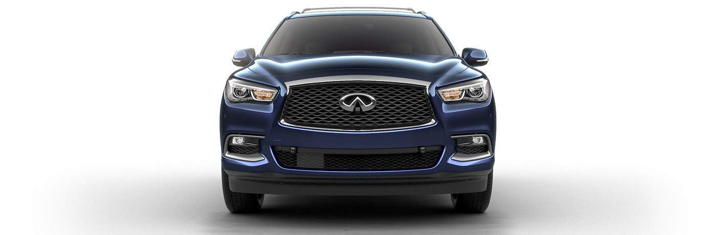 grille of navy blue infiniti qx60