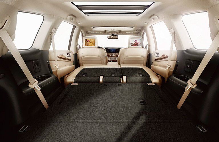 2017 Infiniti QX60 with the seats folded down