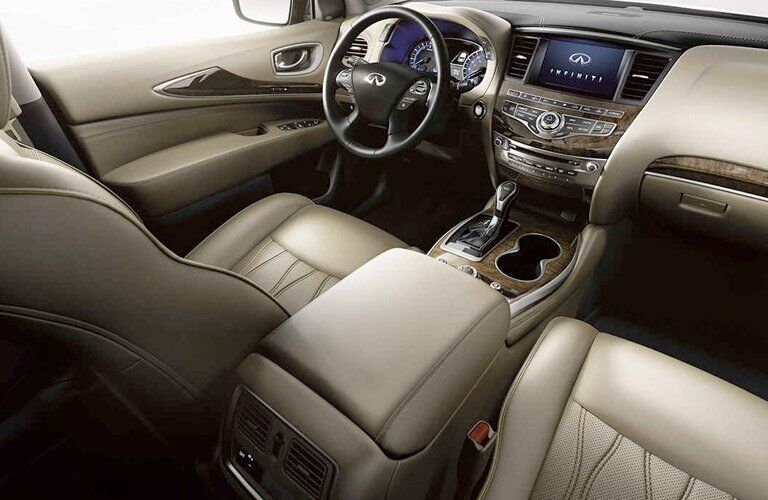 2017 Infiniti QX60 dash steering wheel and infotainment system