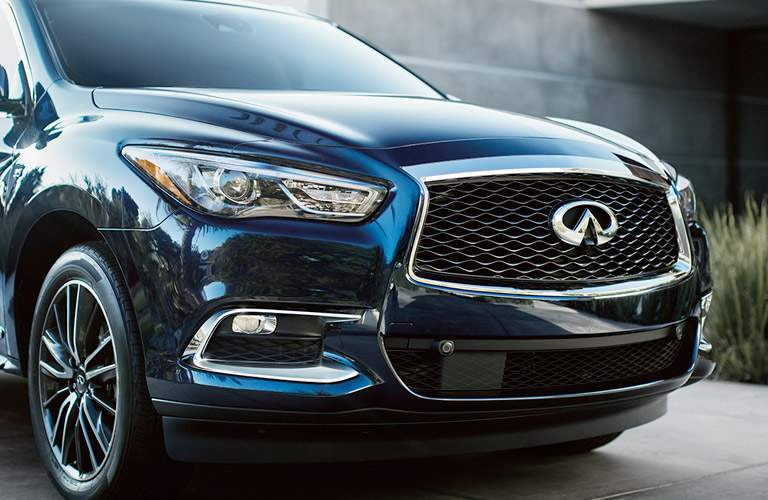 front of navy blue infiniti qx60
