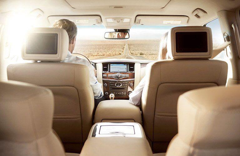 qx80 interior, seating