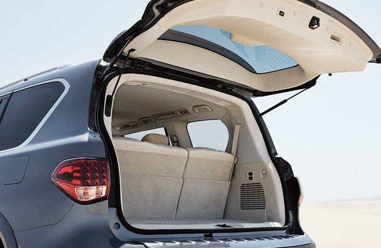 gray QX80 hatchback open