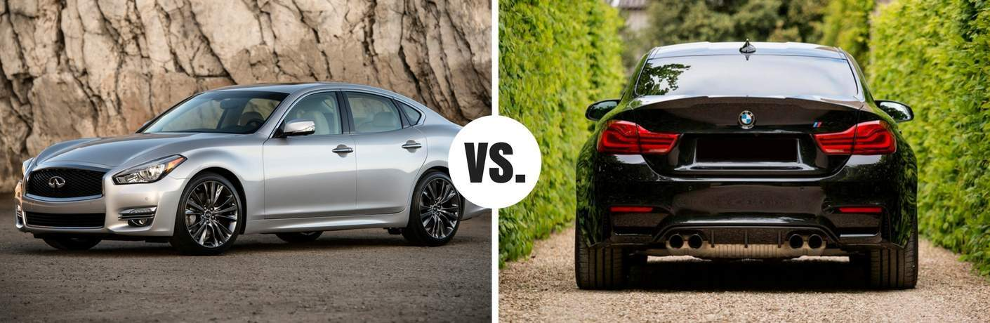 infiniti q70 compared to bmw 340