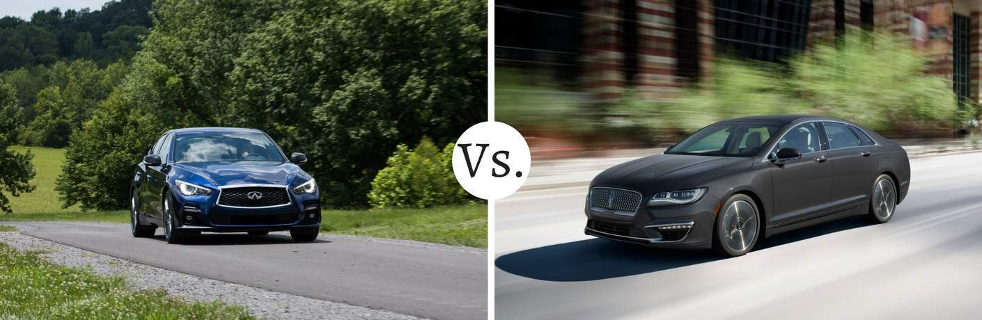 infiniti q50 compared to lincoln mkz