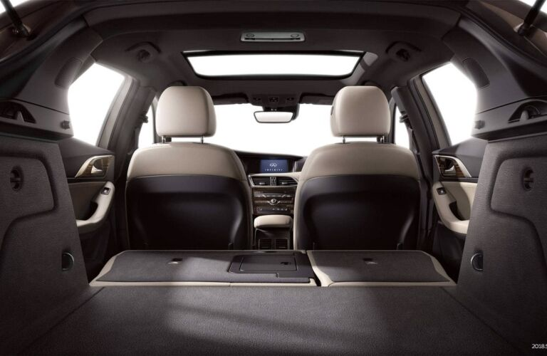 Interior view of the rear cargo area inside a 2019 INFINITI QX30