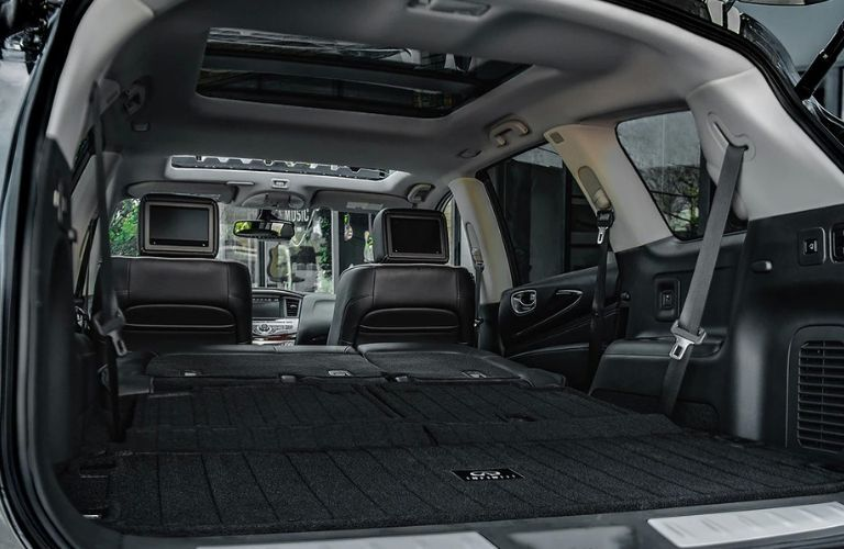 Interior view of the cargo area inside a 2020 INFINITI QX60