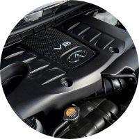 Image of the 2020 INFINITI QX80 engine