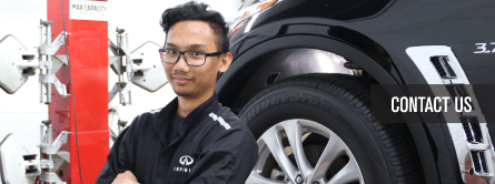 infiniti mechanic smiling