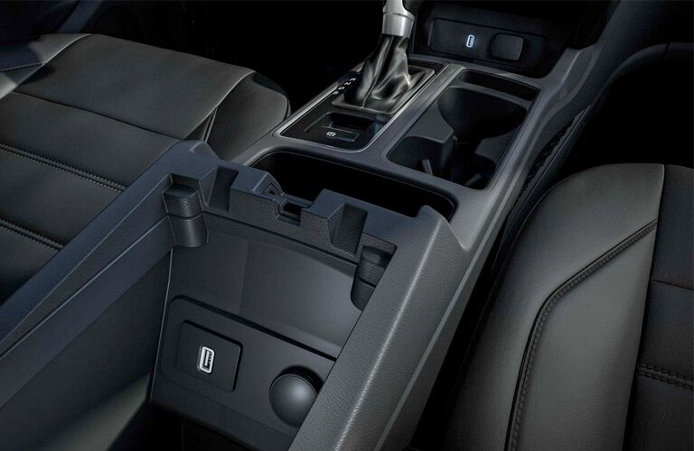 Center console inside the 2018 Ford Escape S