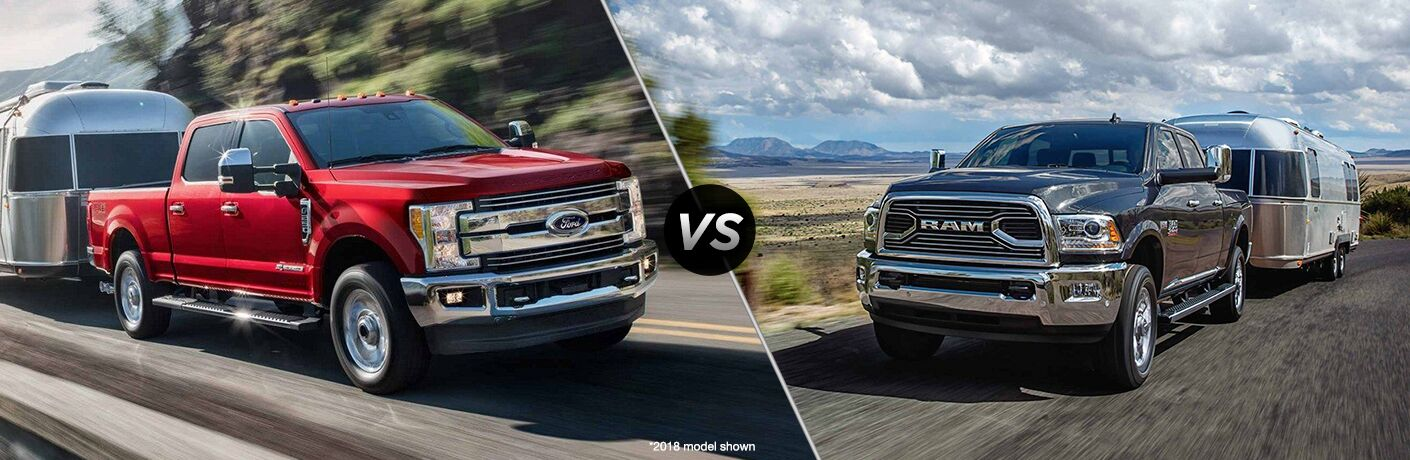 2019 Ford F-250 Super Duty vs 2018 RAM 2500