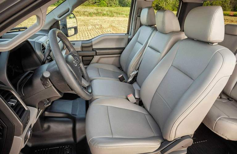 Interior cutaway featuring the front and back seat of the 2018 Ford Super Duty F-250