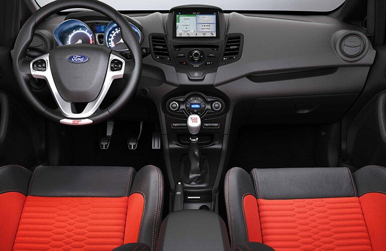 2019 Ford Fiesta interior front cabin steering wheel and dashboard