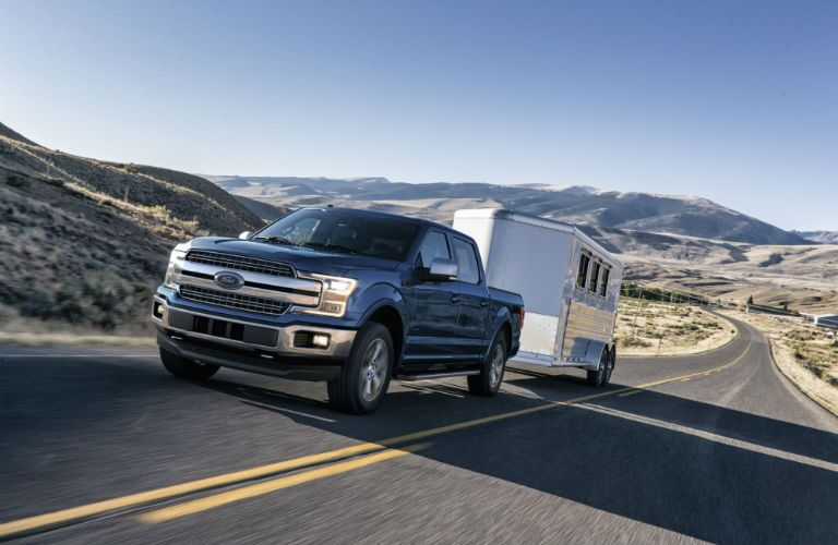 2018 Ford F-150 pulling trailer