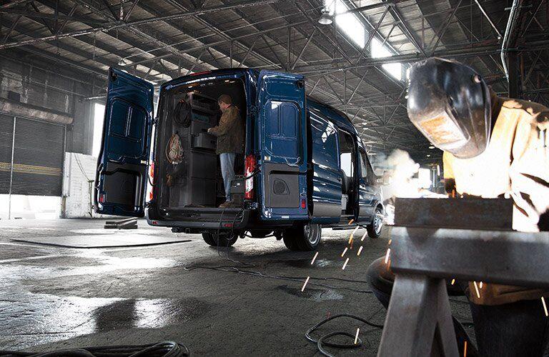 2017 Ford Transit Van cargo doors