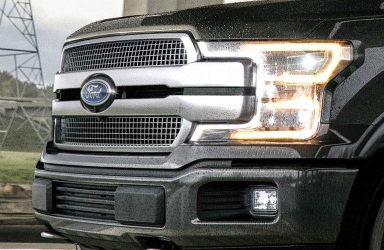 2018 ford f-150 platinum grille with new headlights and fascia norwood ma_o