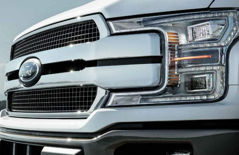 2018 ford f-150 platinum white grille and fascia with headlight update norwood ma_o