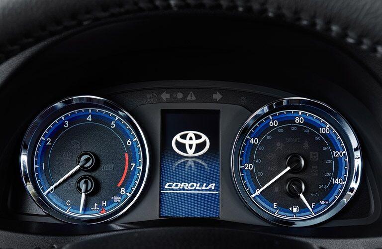 Sport gauge instrument cluster in 2017 Toyota Corolla