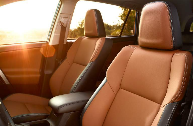 cinnamon interior seats of 2017 Toyota RAV4