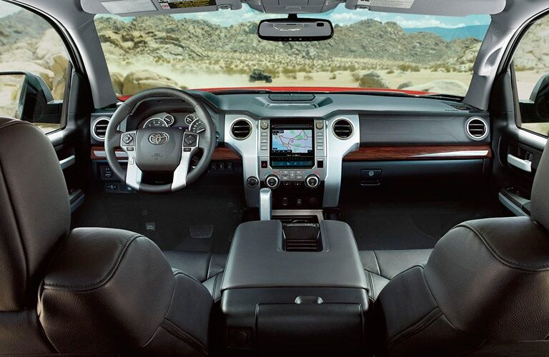 Front interior of the 2017 Toyota Tundra