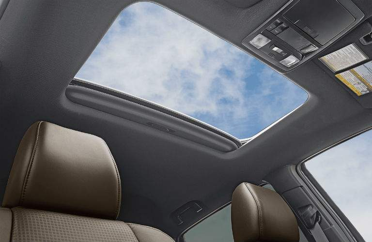 Looking out the sun roof of the 2018 Toyota Tacoma