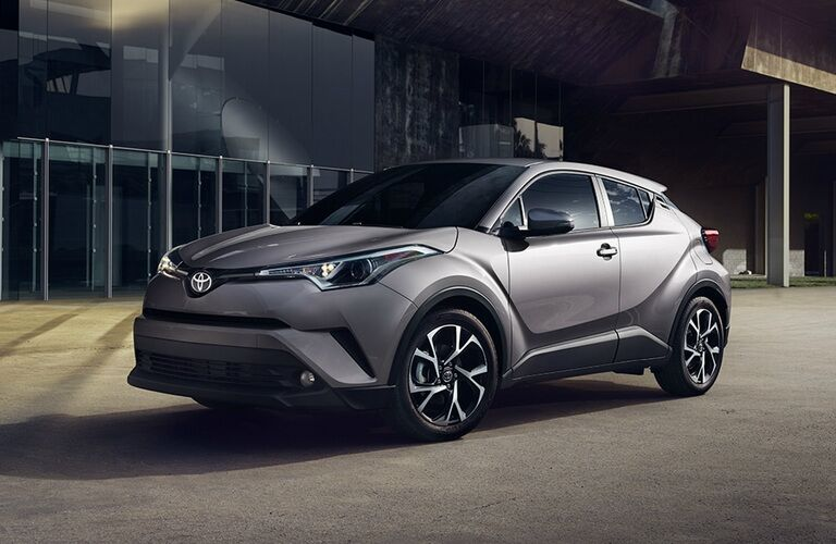 2018 Toyota C-HR parked downtown