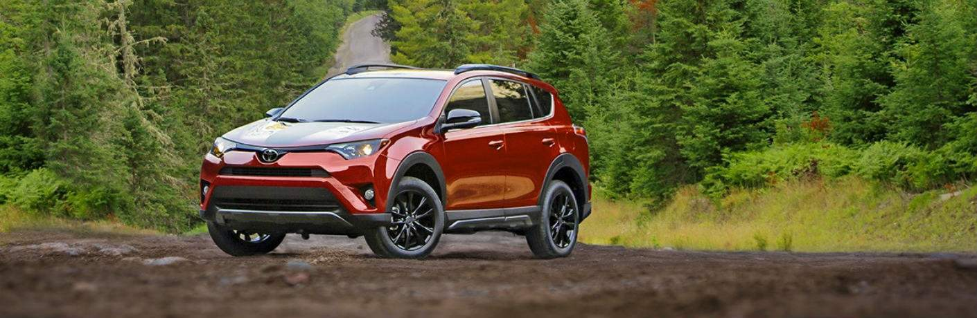 2018 Toyota RAV4 parked near a forest