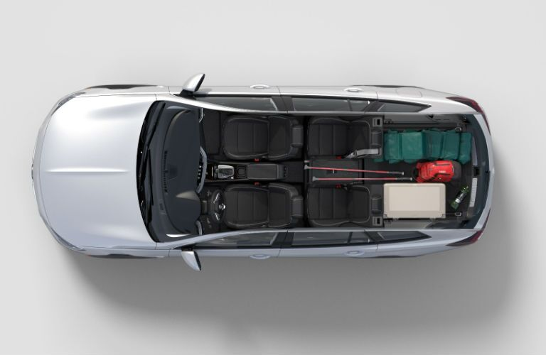 Overhead view of the 2018 Buick Regal TourX's seating and storage capabilities