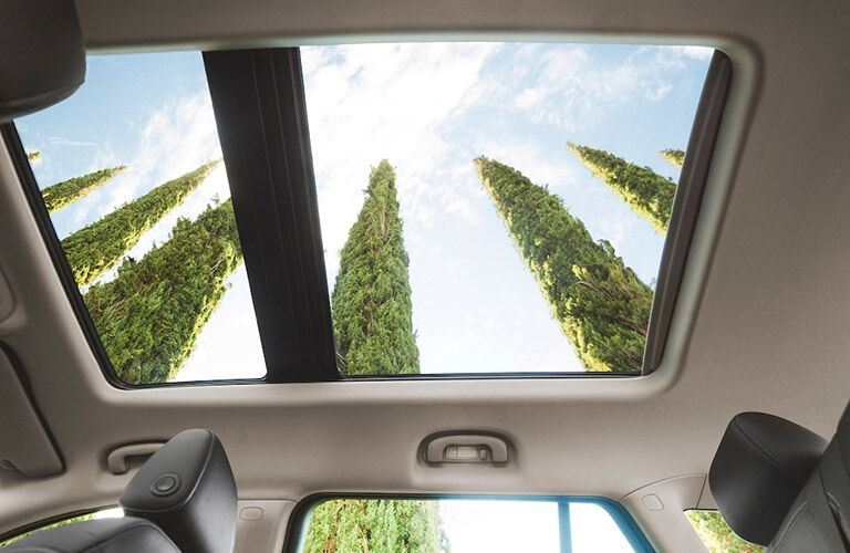 Looking out the sunroof of the 2018 Buick Regal TourX