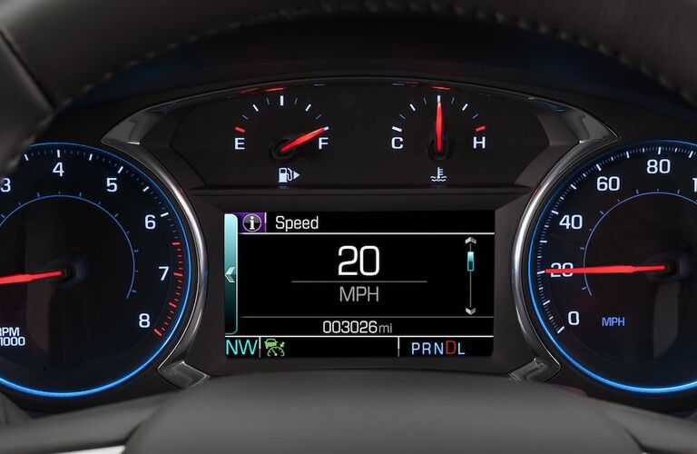 Driver information center of the 2018 Chevy Malibu