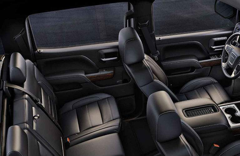 Overhead view of the 2018 GMC Sierra 1500 Denali interior seating