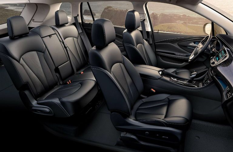 Side view of the 2018 Buick Envision's two rows of seats