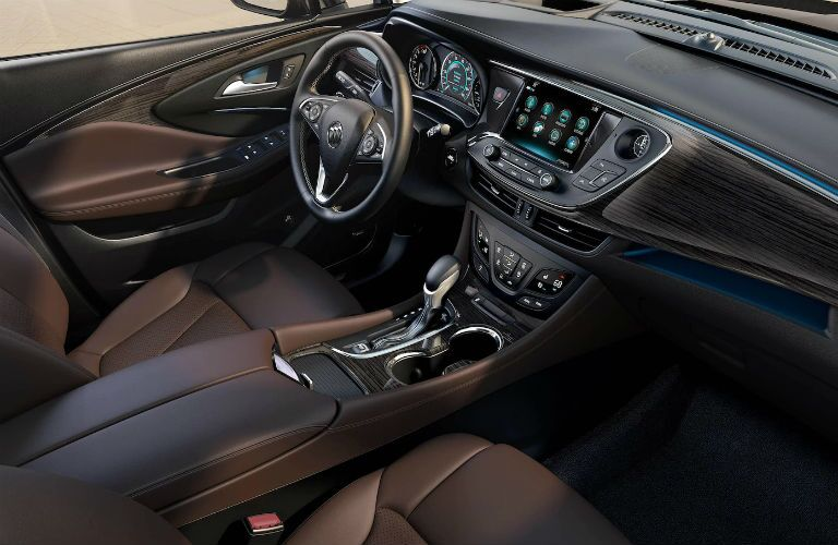 Driver's cockpit of the 2018 Buick Envision