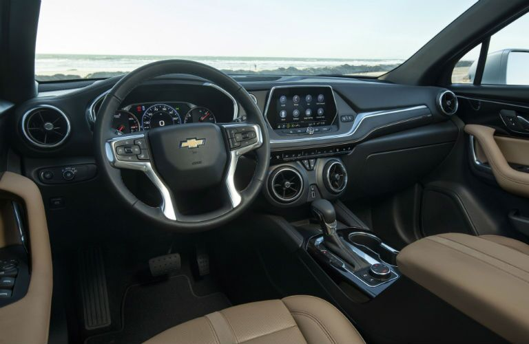 Driver's cockpit of the 2019 Chevy Blazer