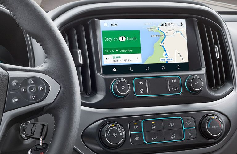 Touchscreen display of the 2019 Chevy Colorado