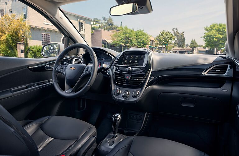Driver's cockpit of the 2019 Chevy Spark