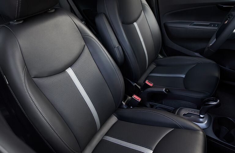 Side view of the front seats in the 2019 Chevy Spark