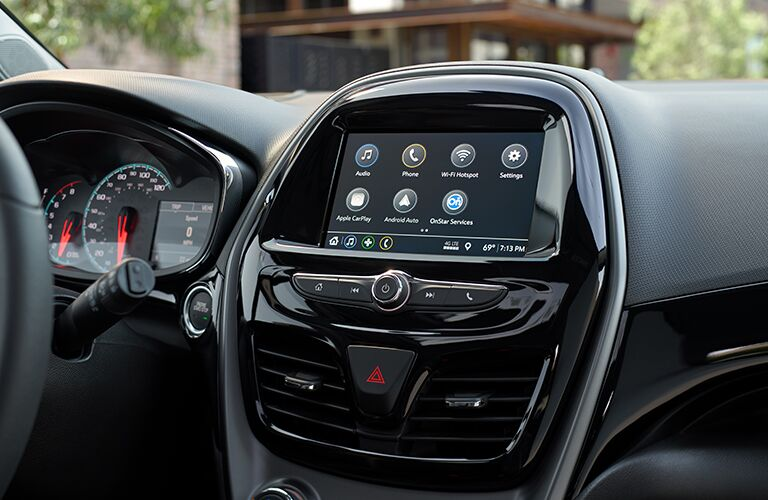 Touchscreen display of the 2019 Chevy Spark