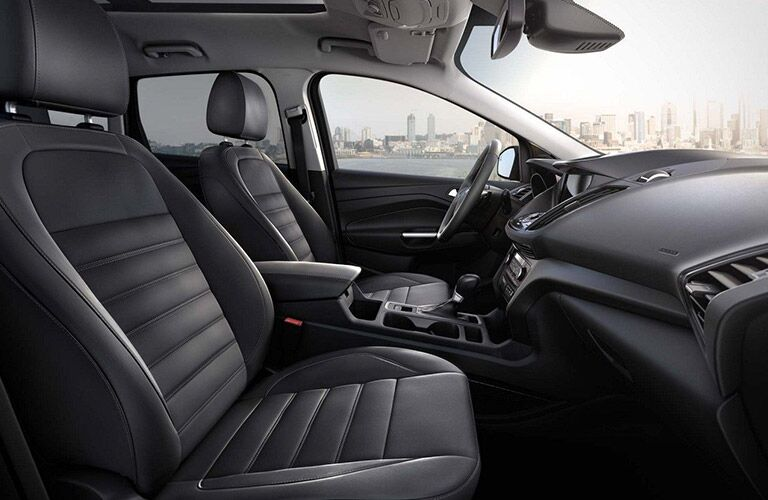 Side view of the front seats in the 2019 Ford Escape
