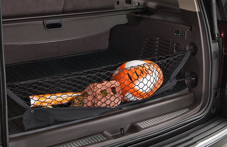 2019 GMC Yukon cargo area with cargo net