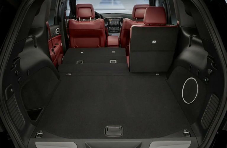 Rear seat in the 2019 Jeep Grand Cherokee split-folded for cargo convenience