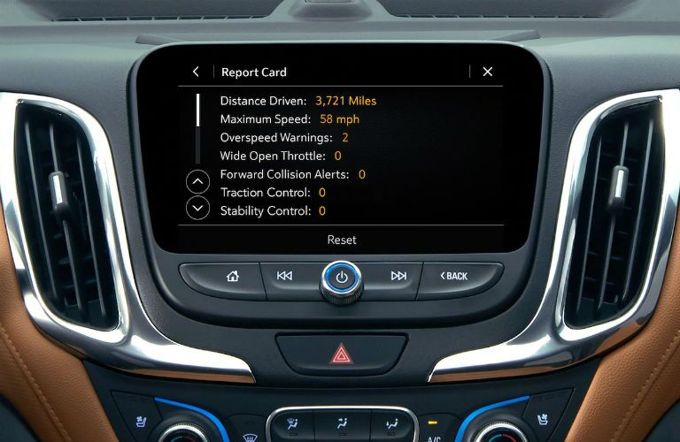 Touchscreen display of the 2019 Chevy Equinox