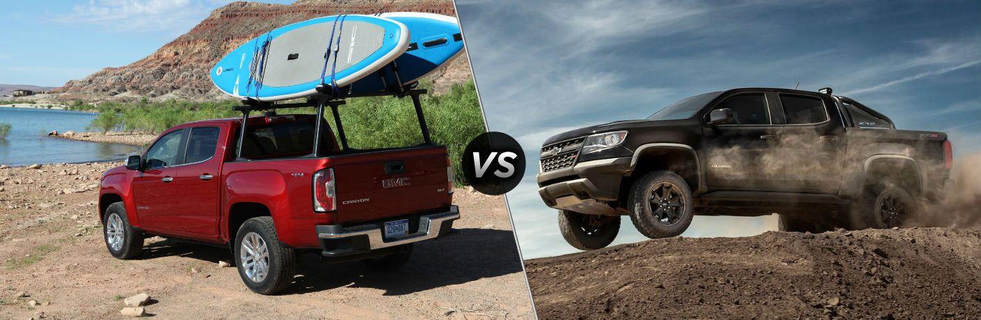 Canyon Vs Colorado >> 2019 Gmc Canyon Vs 2019 Chevrolet Colorado