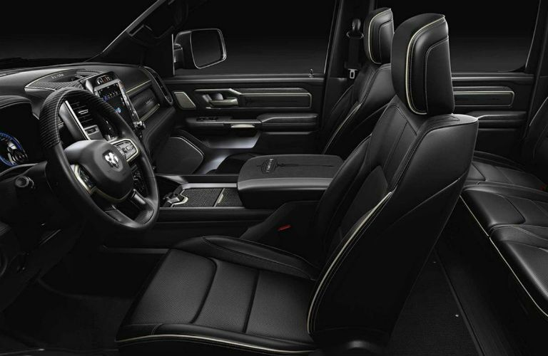 Side view of the front seats in the 2019 Ram 1500