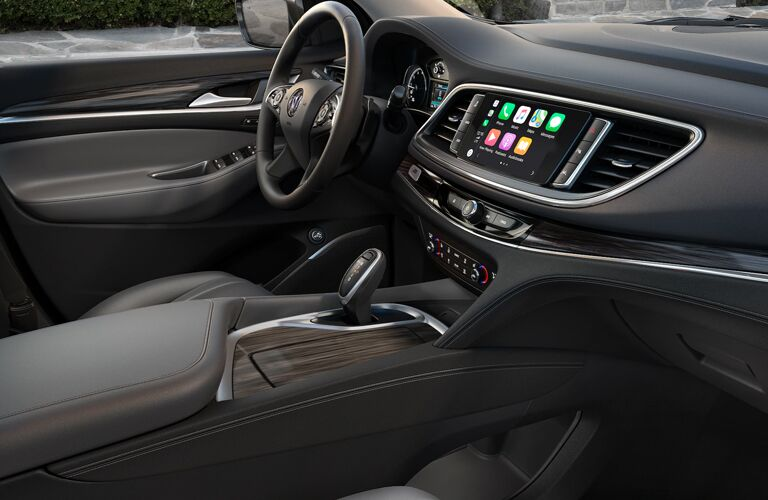 Grey dashboard and front seats in 2020 Buick Enclave