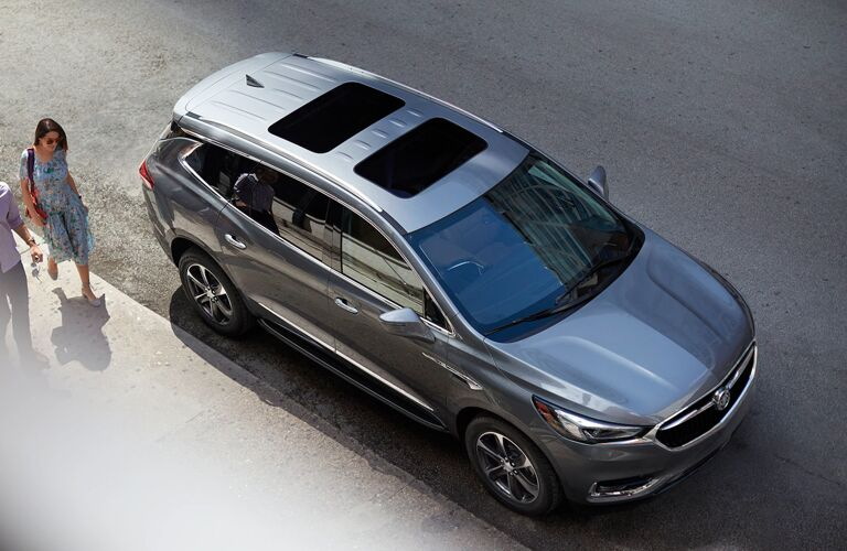 Overhead view of grey 2020 Buick Enclave