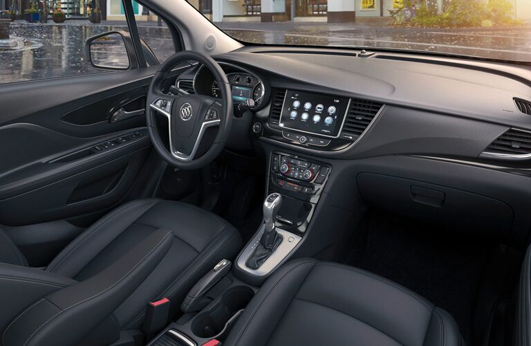 Grey dashboard and front seats in 2020 Buick Encore