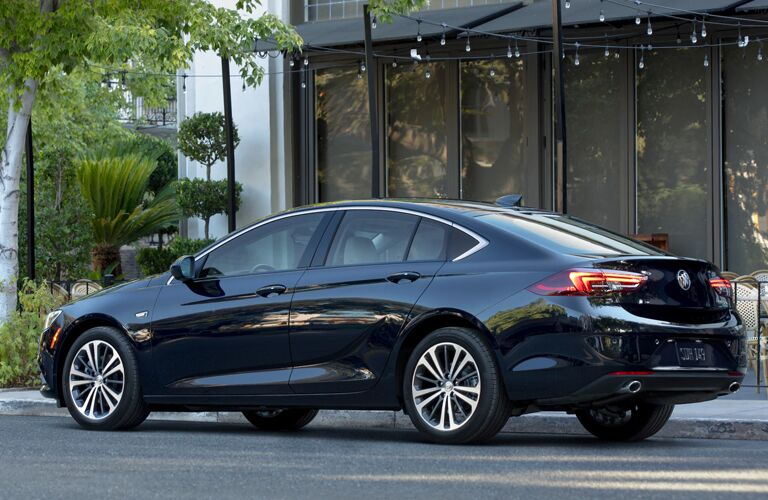 2020 Buick Regal Sportback exterior rear driver side parked on street